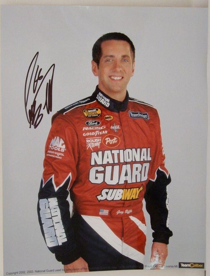 Greg Biffle 2002 - 2003 Autographed NASCAR 8 x 10 Photo Signed