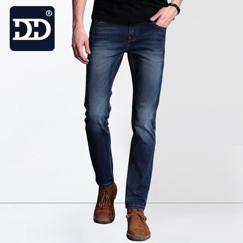 Mens Deep Blue Straight Jeans