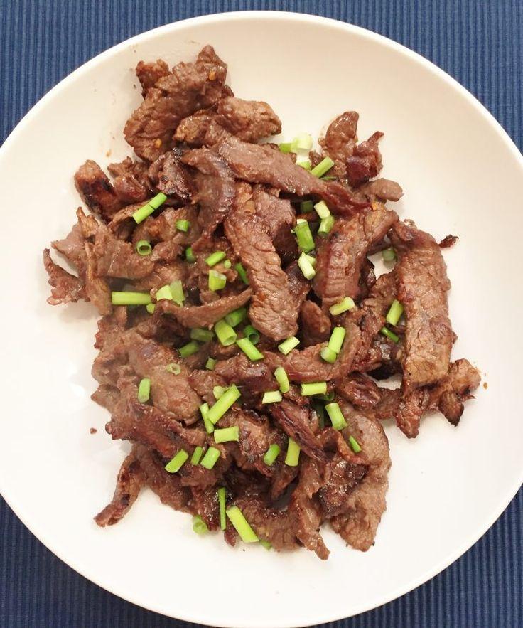 Más Recetas en https://lomejordelaweb.es/   Bulgogi Beef, carne bulgogi, receta Koreana, recetas orientales, korean beef
