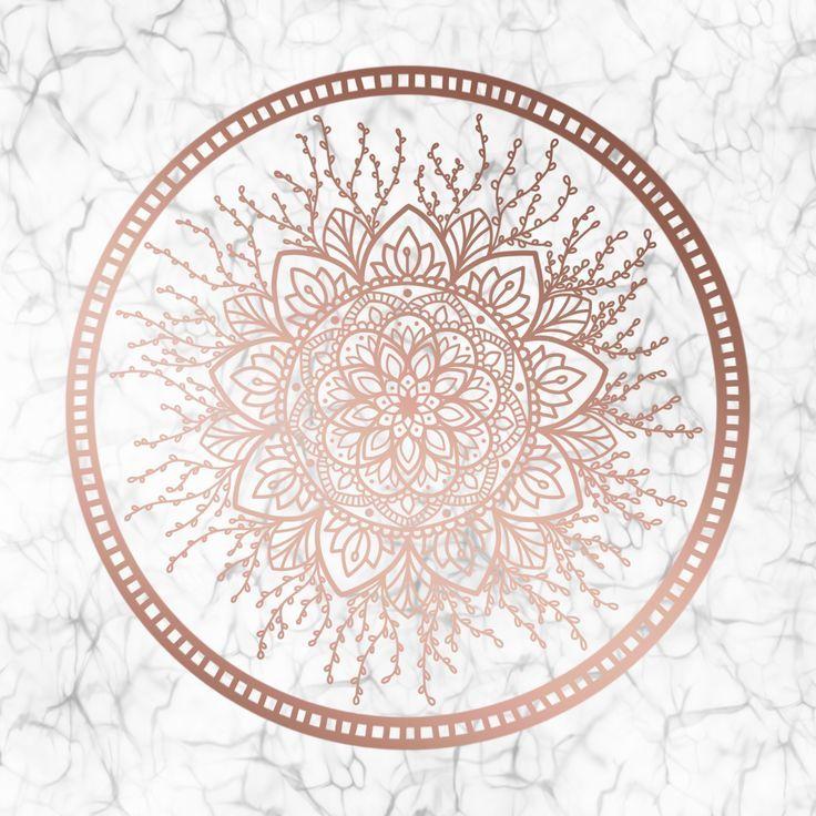 Rose Gold Nature Mandala on Marble by Eliza Bentley – #Bentley #Eliza #Gold #man… – Schöne Pin und Bilder