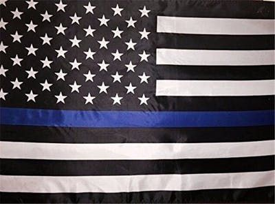 BlueLine USA Police Flags Black, White And Blue American Flag With Grommets