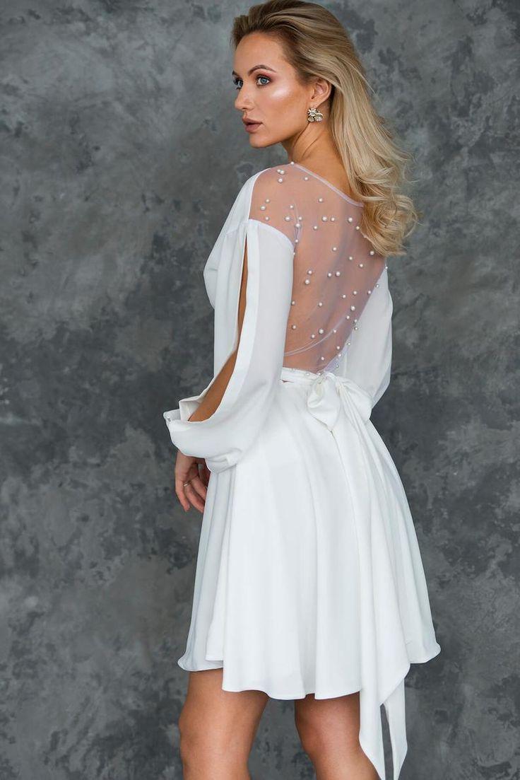 14++ Wrap wedding dress with sleeves info