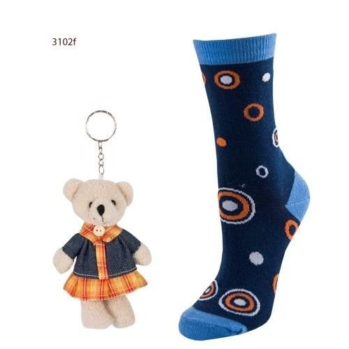 SOXO Women's socks with dots + keyring   WOMEN \ Socks   SOXO socks, slippers, ballerina, tights online shop