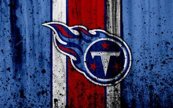 Download wallpapers Tennessee Titans, 4k, NFL, grunge, stone texture, logo, emblem, Nashville, Tennessee, USA, American football, Southern Division, American Football Conference, National Football League