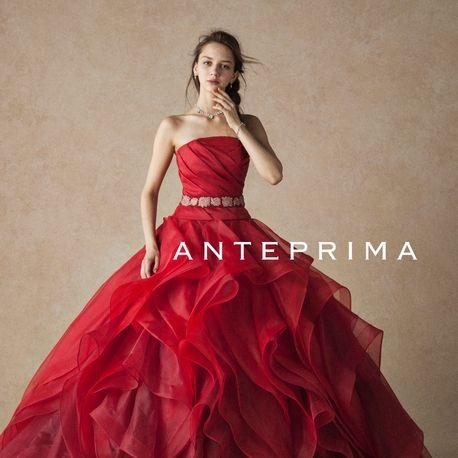 ウェディングハウス Le chiffon(ル・シフォン)●エイトスタジオ【可愛いもの大好き大人花嫁へ】赤のAラインでふわふわ縦フリルスカート♪|ウエディングドレスを探す|ゼクシィ