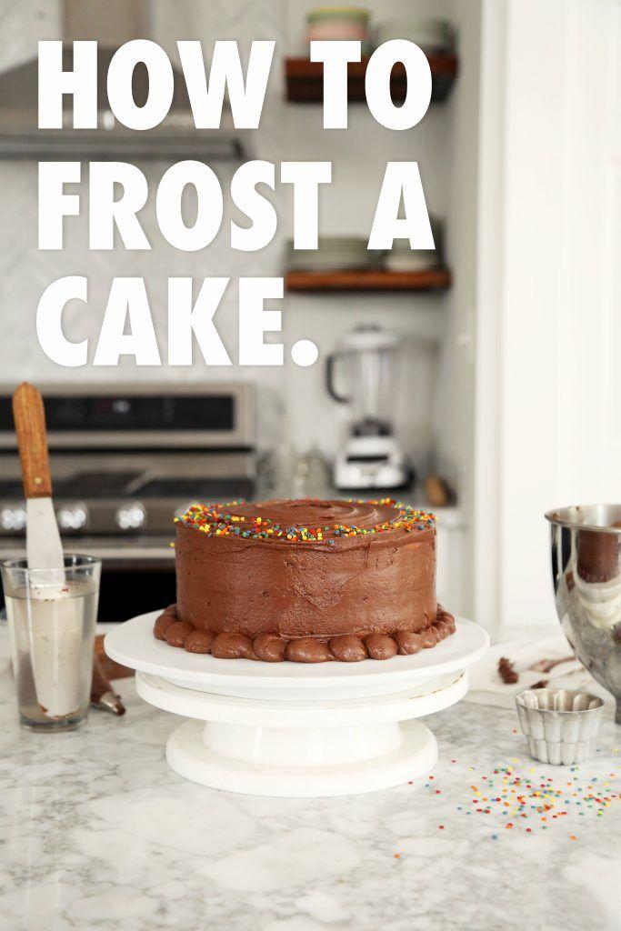 Baking 101:  How To Frost A Cake   http://joythebaker.com/2016/08/baking-101-how-to-frost-a-cake/