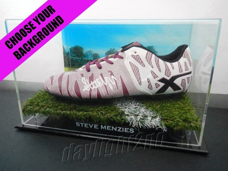 Signed STEVE MENZIES Football Boot PROOF COA Manly Sea Eagles NRL 2015 Jersey.