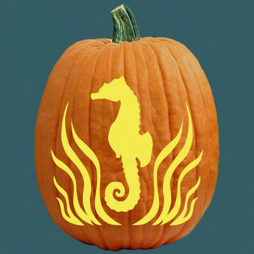 Cool coastal pumpkin carving patterns http