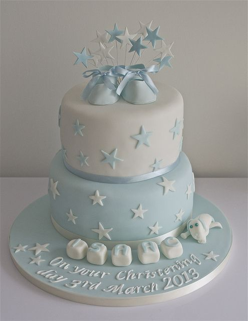 Christening Cake by Sugar Ruffles, via Flickr