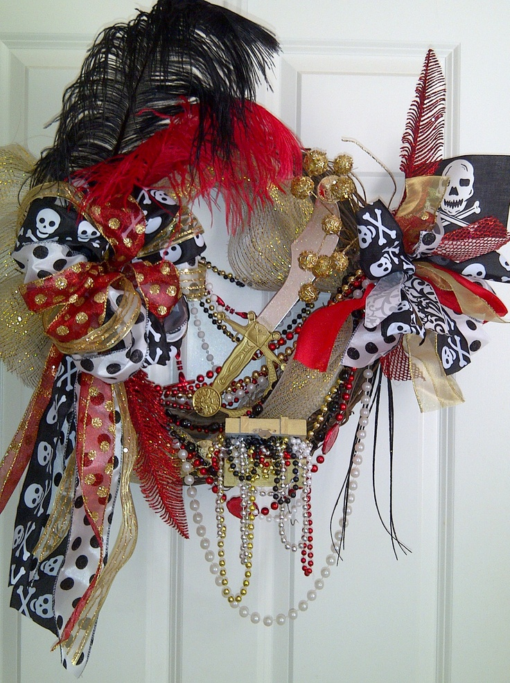 Black, Red & Gold. Gasparilla and Bucs wreath...2 for 1!!