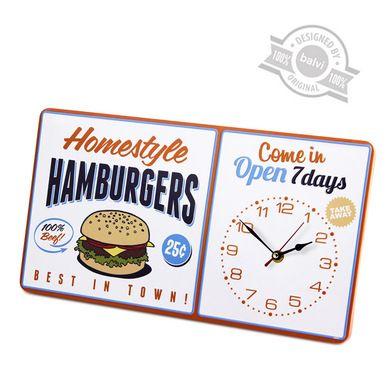 Orologio parete Hamburgers metallo 1xAA25833