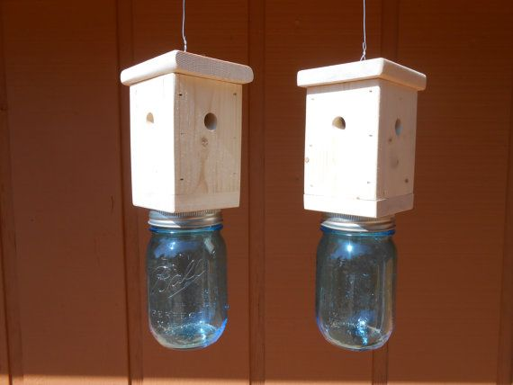 Items similar to Pair (2) of Carpenter Bee Traps - Go Green - no pesticides. on Etsy
