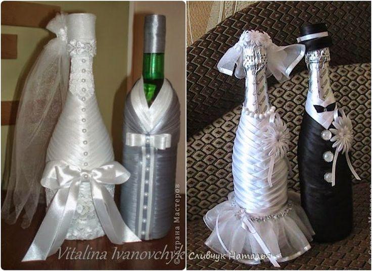 garrafa decorada para casamento