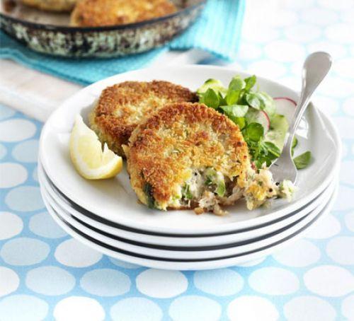 Peppered mackerel fish cakes