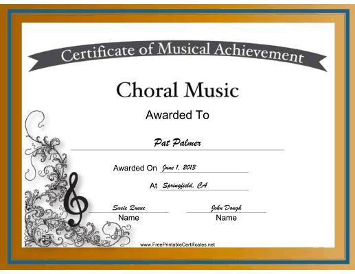 Choral music achievements are celebrated with intricate designs and