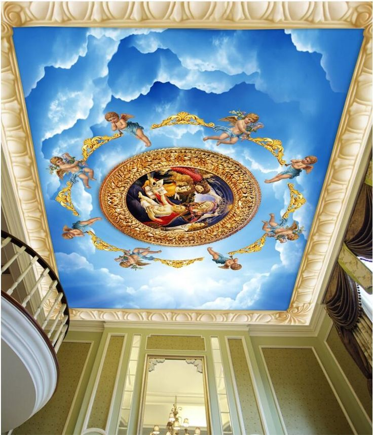 25 best ideas about 3d wall painting on pinterest for Ceiling mural decal
