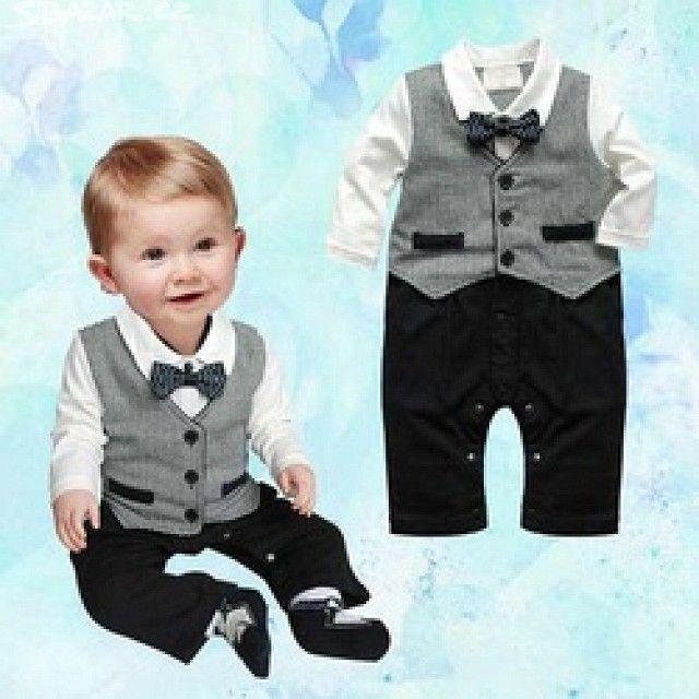 Nový chlapecký slavnostní komplet pro miminko - - obrázek číslo 1