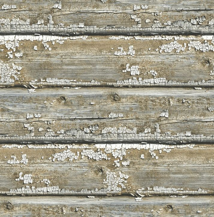 Bringing The Old Weatherboards Inside This Wallpaper Has Flaky Paint Look Without Mess Another Great Design Perfect For Rustic Country Or