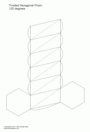 Net twisted hexagonal prism