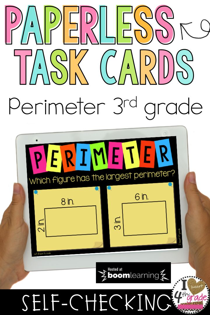 Perimeter   3rd grade math   3rd grade measurement   measurement math centers   perimeter math centers   Boom Cards   Boom Learning   This set of Boom Cards is great for showing students how to determine which shape has the largest perimeter. Works great with interactive boards. ($)
