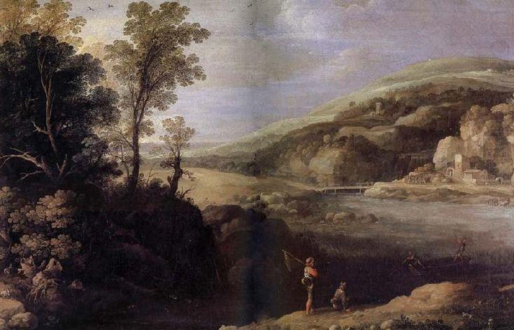 Фламандский художник Paul Bril (1554-1626)..   Paysage aux pecheurs