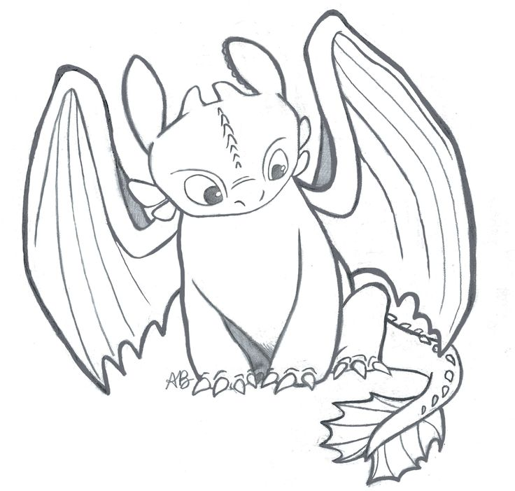 "I drew this sketch of Toothless from ""How To Train Your Dragon""! #toothless #hiccup #httyd #httyd2"