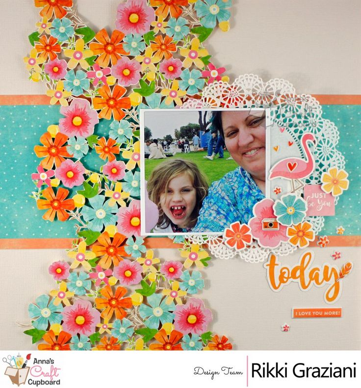 """Rikki Graziani is joining us this week with her creations using Jillibean Soup""""Bowl of Dreams"""" collection. Her first layout is every 'Fussy Cutters' dream!!  You can see all the details on Anna's blog... The complete  Jillibean Soup""""Bowl of Dreams"""" collection can be found in the Anna's store https://www.annascraftcupboard.com.au/store/jillibean-soup-c-4337/"""