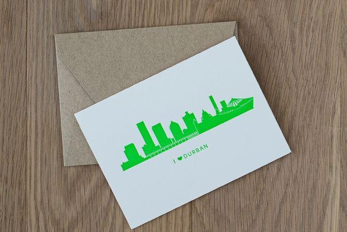 Durban Skyline Letterpress Card by The Letterpress Company
