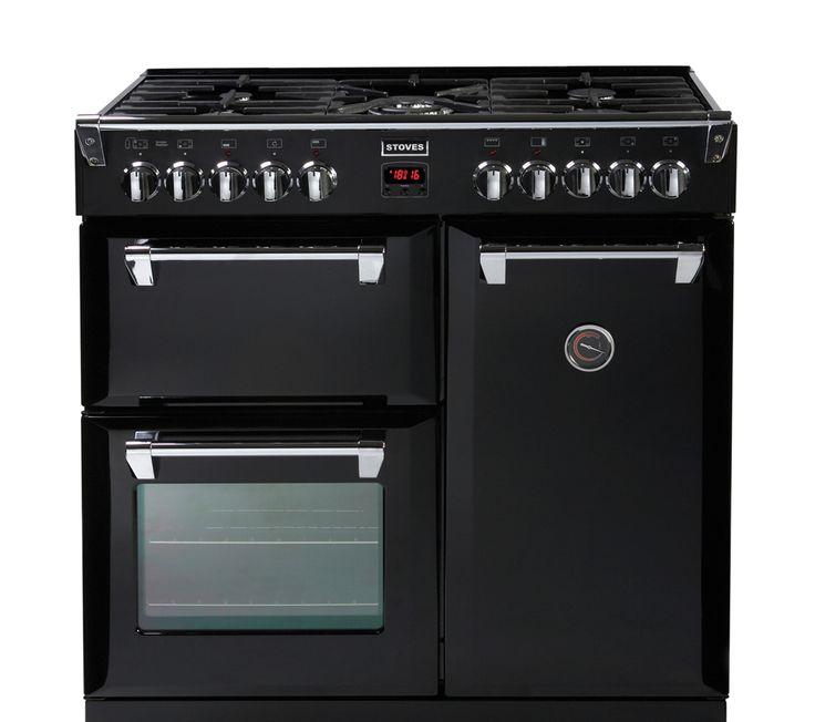 957 currys STOVES Richmond 900DFT Dual Fuel Range Cooker - Black