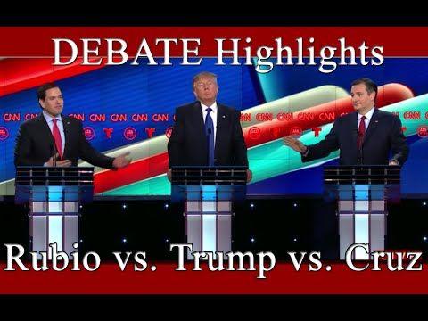 Sad & depressingly hilarious especially if you take into account who's the front runner.  CNN Republican Debate Highlights - Rubio vs. Trump vs. Cruz - 02/25/2016 - YouTube