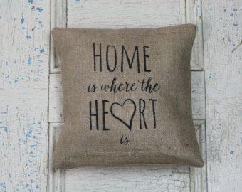 Items similar to I Love You- Decorative Felt I Heart You Burlap Pillow 14x14 Photography Prop on Etsy