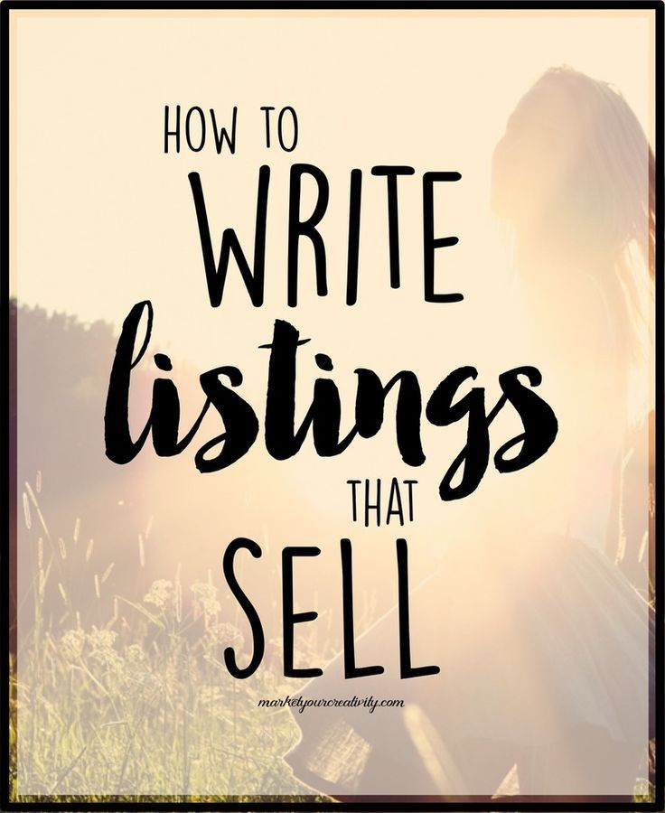 Write Product Listings that Sell | Copywriting tips and CreativeLive course #copywritecraft