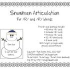 These charming snowmen cards target the /r/ and /s/ sounds in single words, phrases and sentences, all on each card.  This activity is perfect for ...
