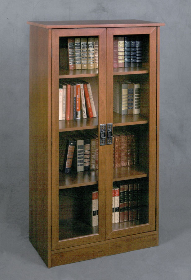 bookshelf with glass doors walmart bookcase sliding by altra furniture black barrister door