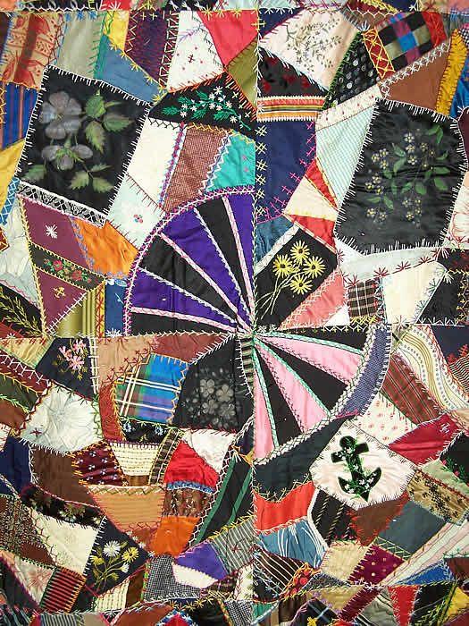 277 best Antique Crazy Quilts images on Pinterest | Embroidery ... : antique crazy quilt - Adamdwight.com