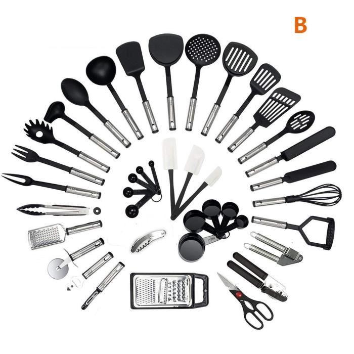 40 Pcs Ustensiles De Cuisine Kit Ensemble Gadgets De Cuisine Fouet
