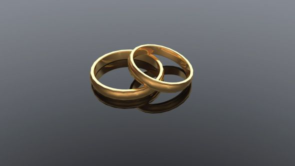 Classic Wedding Rings Background