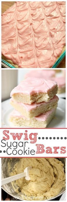 THE BEST SUGAR COOKIE BARS OUT THERE! Swig Sugar Cookie Bar Recipe by Real LIfe DInner ~ http://reallifedinner.com