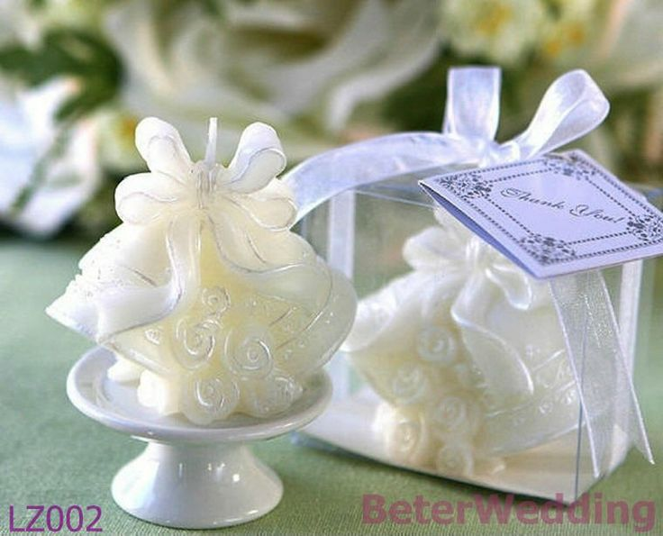 novelty Wedding Bells Candle in Gift Box with Ribbon LZ002 Wedding Souvenir Wedding Gift, Decoration