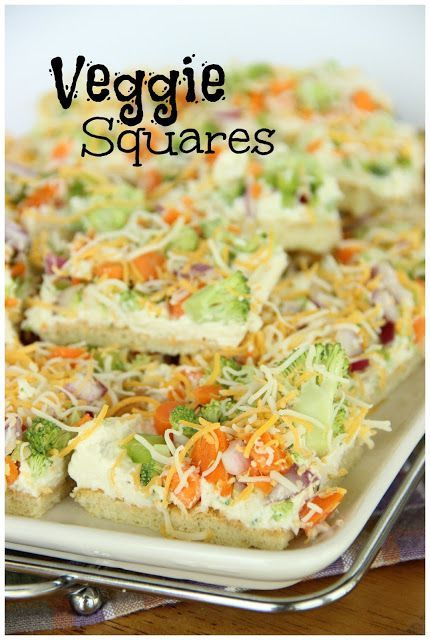 Veggie Squares-One of the best go-to appetizers-everyone always wants the recipe