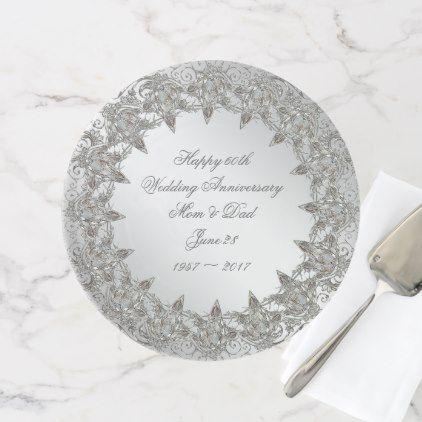 Flourish Diamond 60th Anniversary Cake Stand - anniversary cyo diy gift idea presents party celebration