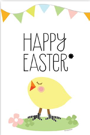 Happy Easter to ALL my Pinterest FRIENDS! Enjoy your Day! ♥ Kimm - {Amy at Living Locurto has created this free printable Easter card}