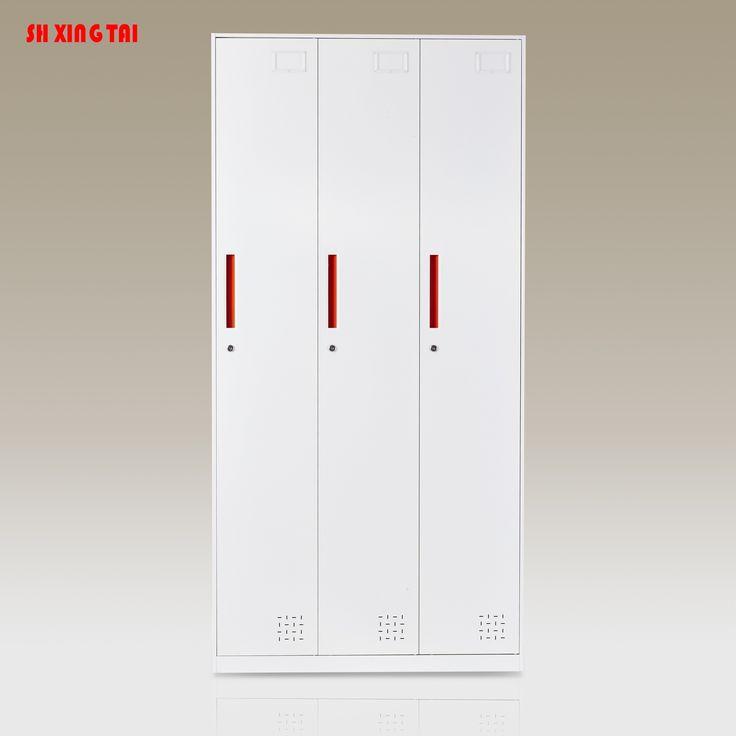 Locker 3 Compartments Steel Locker In 2020 Steel Locker Steel Sheet Locker Storage