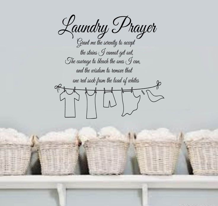 Amazon.com - Laundry Prayer Grant me the SERENITY Home VInyl Wall Lettering Quotes Words Decal 13wx15h Laundry Room -