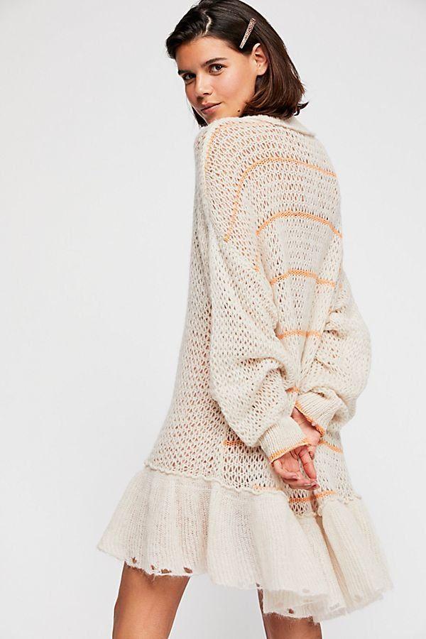 Float On Peplum Sweater Sweater Dress Sweater Dress Oversized Peplum Sweater