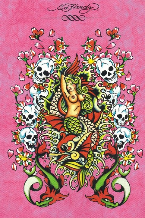 Ed Hardy mermaid
