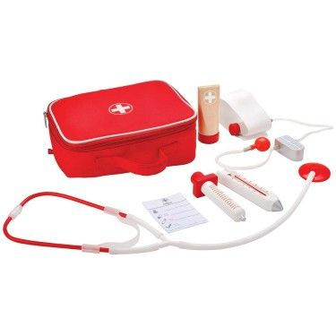 Doctor on Call Play Doctor Wooden Kit in a Bag
