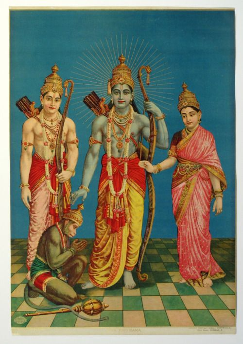 "thefieldoftruth:  Rama, Sita, Lakshman and Hanuman - Ram Darbar   ""O Great Lord…"
