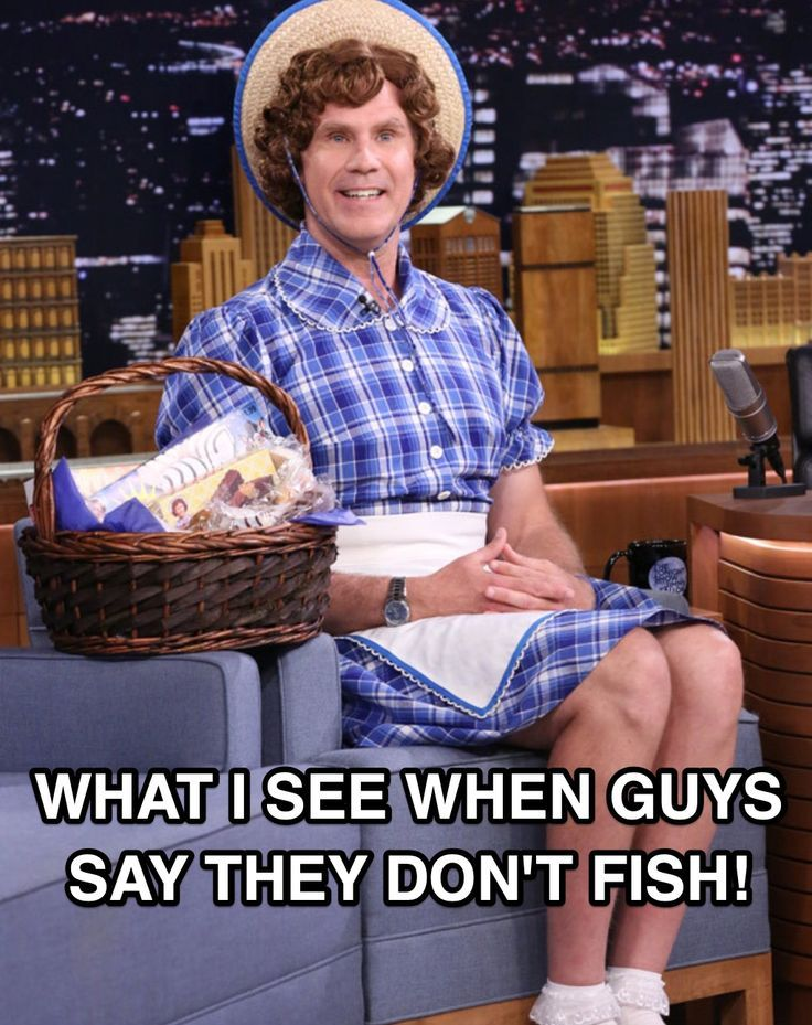 Funny Fishing Meme With Will Ferrell As Little Debbie From The Jimmy Fallon Show Fishing Meme Funny Willfe Funny Fishing Memes Fishing Memes Fishing Humor