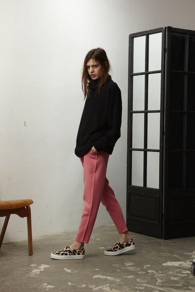 Perfect pink trousers from Studio Nicholson AW14  http://www.disneyrollergirl.net/studio-nicholson-aw13/